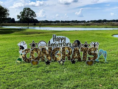 Happy Anniversary Congrats Yard Cards
