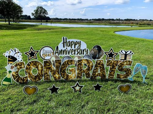 Happy Anniversary Congrats Yard Card