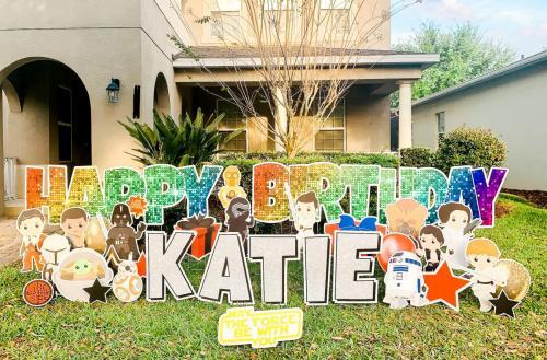 Star Wars Birthday Yard Sign Winter Garden Florida