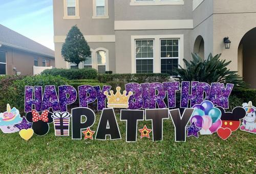 Birthday Yard Cards Winter Garden Florida Purple