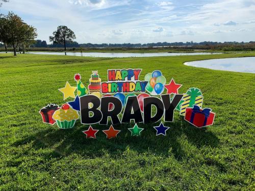 Happy Birthday Yard Card Celebration Florida