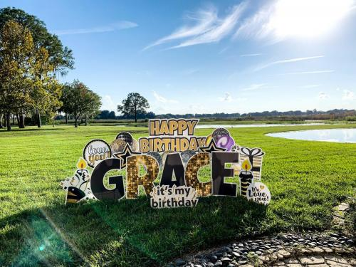 Happy Birthday Yard Card Girl Winter Garden Florida