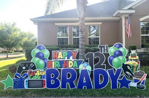 Hockey Birthday Yard Sign Winter Garden Florida