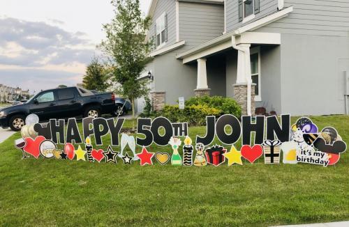 Milestone Birthday Yard Cards Winter Garden Florida