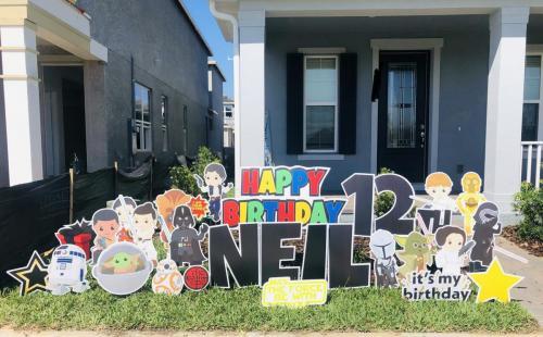 Star Wars Birthday Yard Signs Windermere Florida