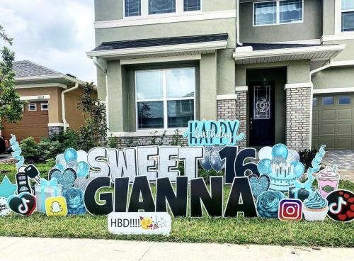 Sweet 16 Birthday Yard Card Windermere Florida
