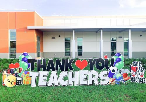 Teacher Appreciation Yard Card Windermere FL